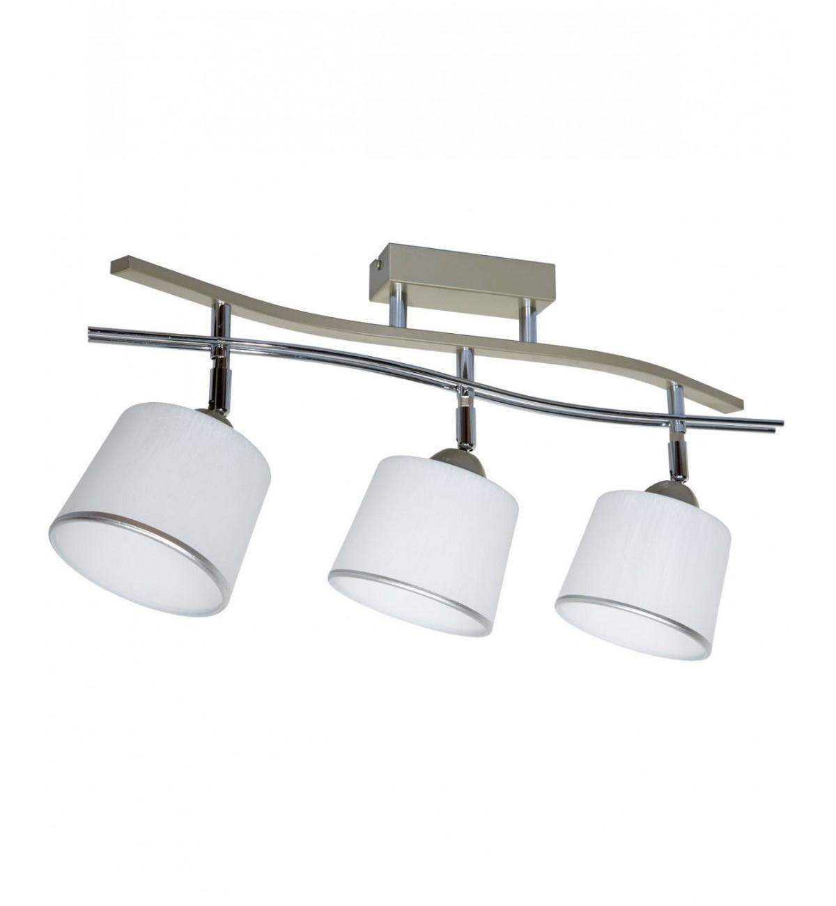 lampa 3 plomienna z serii 01 chromowanymi elementami
