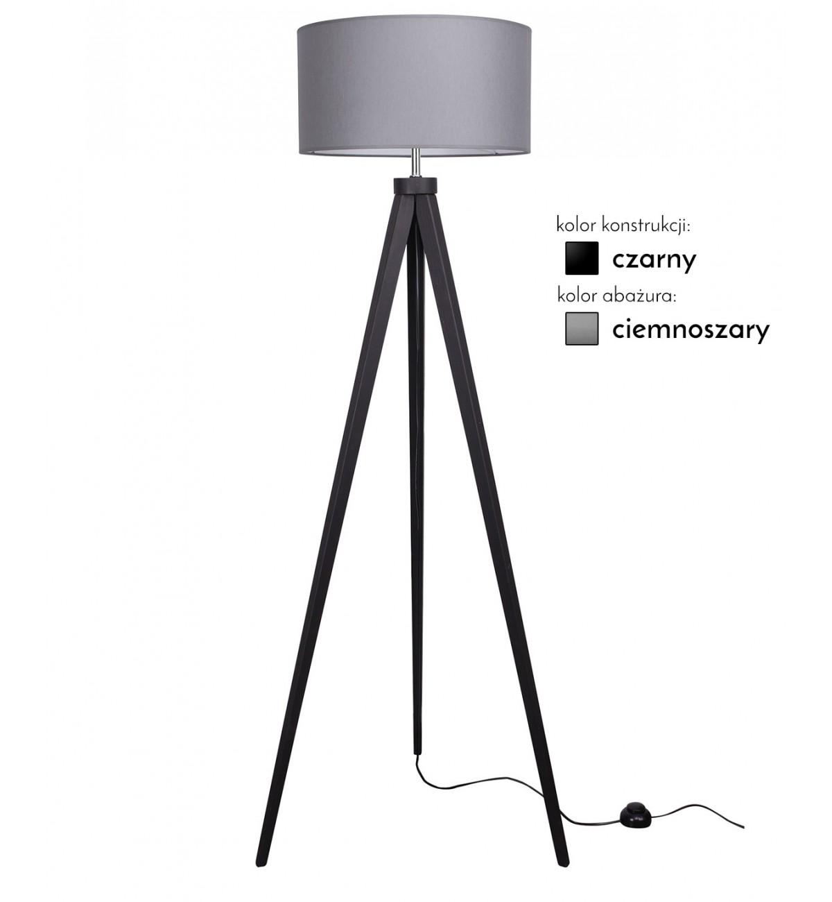 lampa stojaca z abazurem drewniana led wiele kolorow