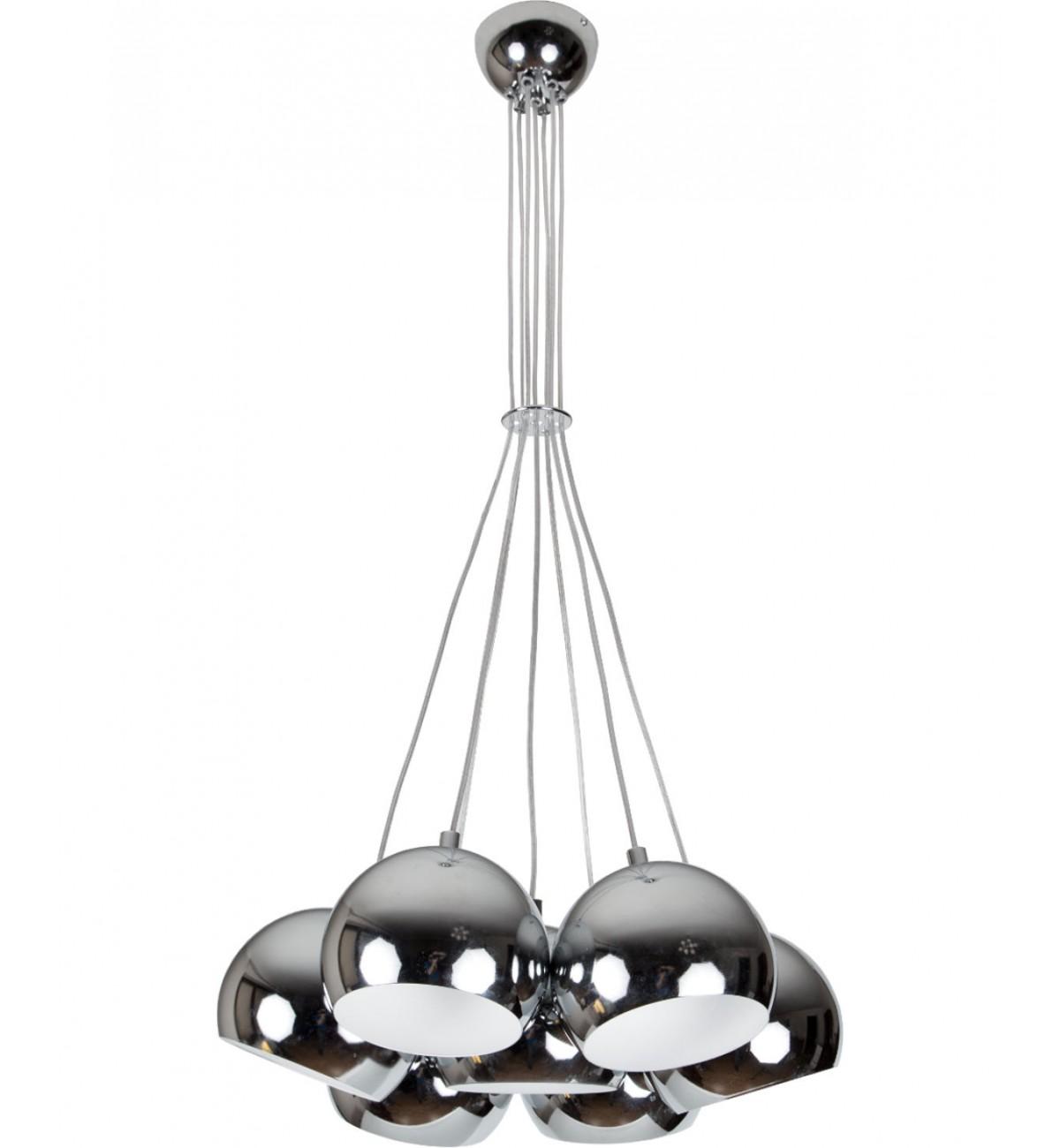 lampa wiszaca kule 01 chrom