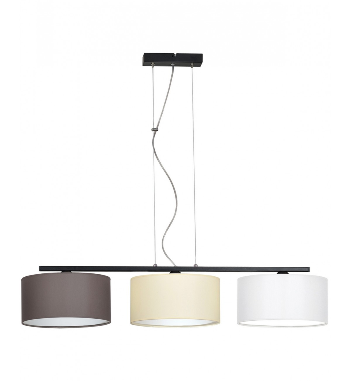 lampa wiszaca nowoczesna z abazurem material