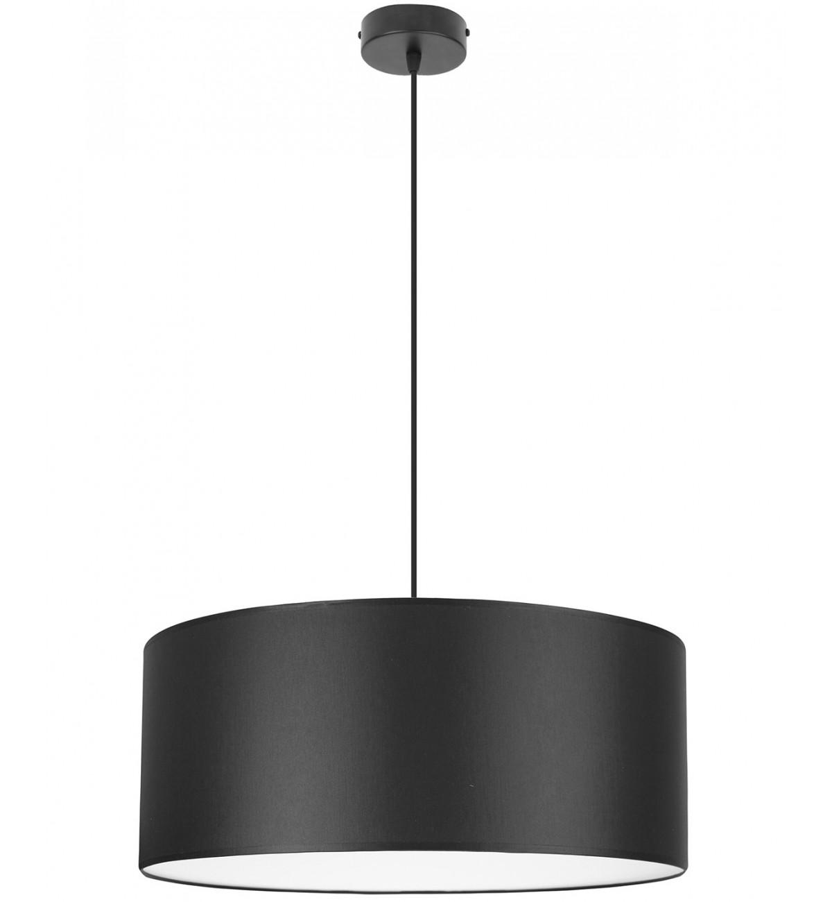 lampa wiszaca z abazurem bialy srodek 50 cm