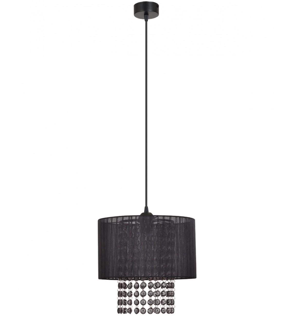 lampa wiszaca z abazurem krysztalkami
